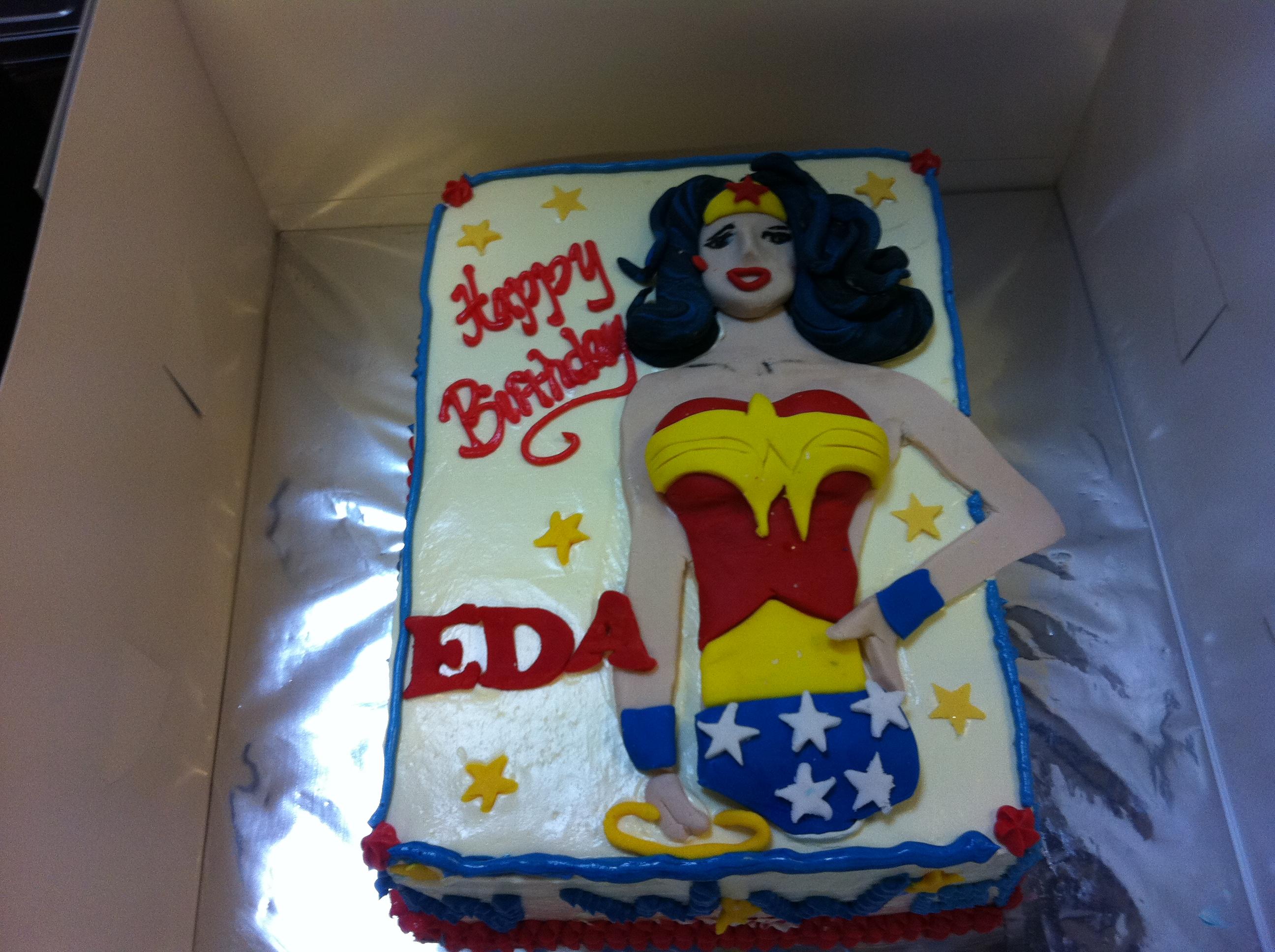 Wonder Woman 2d Circa 70s Linda Carter My Fat Lady Cakes Bakes