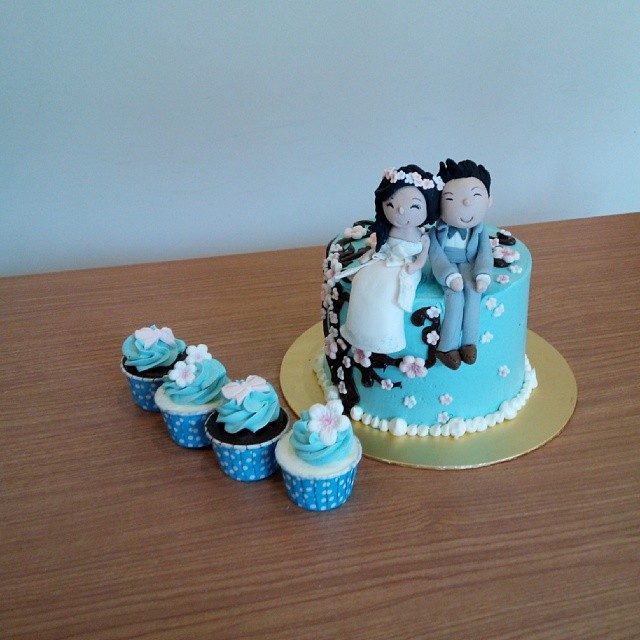 Wedding single layer cakes – for small and intimate wedding parties ...