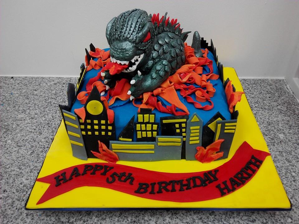 Godzilla eats cake My Fat Lady Cakes Bakes